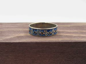 Size 7.5 Sterling Silver Hearts Turquoise Chip Band Ring Vintage Statement Engagement Wedding Promise Anniversary Bridal Cocktail Friendship for Sale in Everett, WA
