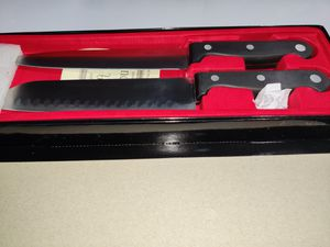 2 Piece Slitzer Stainless Steel Chef Cooking Kitchen Knife Set ~ New for Sale in Cornelius, OR