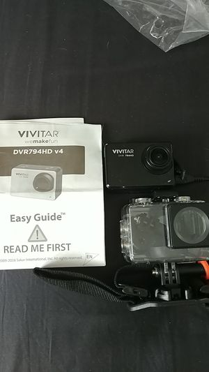 Vivitar DVR 79 4 HD GoPro with underwater case never use brand new for Sale in Columbiaville, MI