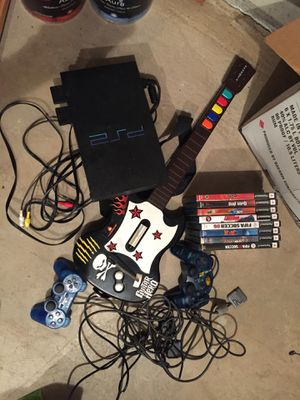 PlayStation 2 with controllers and 8 great games for Sale in West Haven, CT