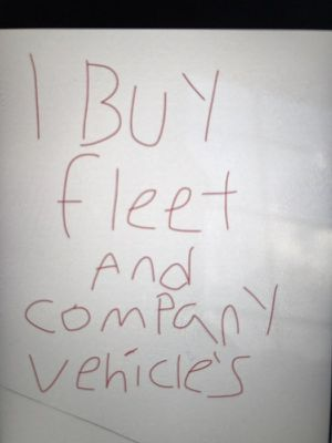 I BUY FLEET AND COMPANY VEHICLES CASH!! for Sale in Northfield, OH