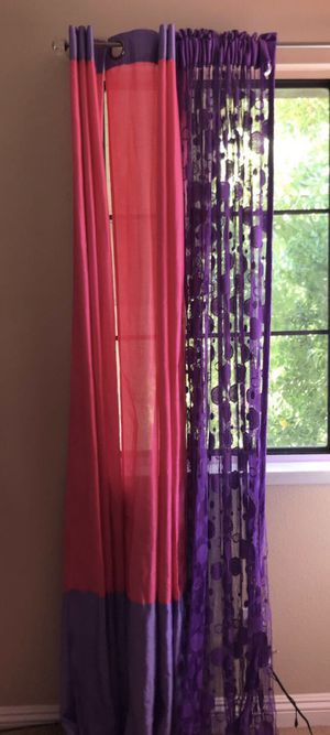 Room Curtains 💓💜 for Sale in Moreno Valley, CA