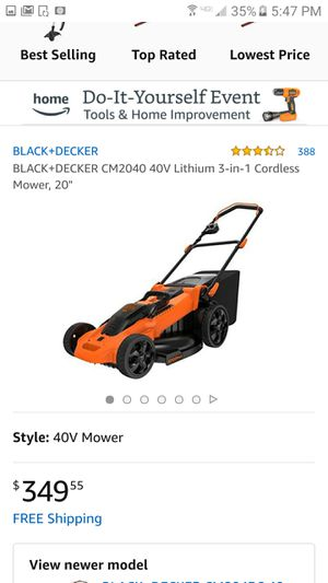 Cordless Electric Lawn Mower for Sale in Salt Lake City, UT
