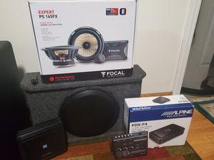 Full aftermarket car audio system. Focal + JL subwoofer + 2 Alpine Amp+ Line Driver. for Sale in Glendale, CA