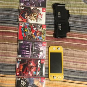 Nintendo Switch Lite + Games for Sale in Los Angeles, CA