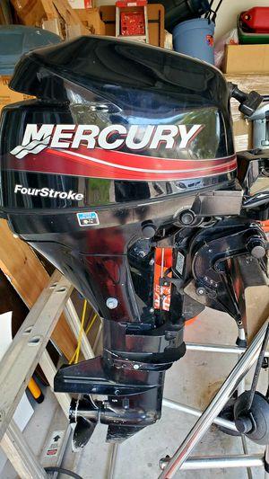 Mercury 9.9 hp 4 strokes outboard motor - Excellent condition - Short shaft for Sale in Boynton Beach, FL