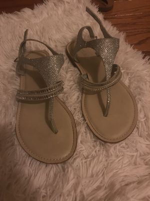 Sophie17 brand silver crystal sandals size 9 for Sale in Gambrills, MD