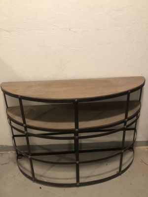Console Table Metal frame wood surfaces for Sale in Boston, MA
