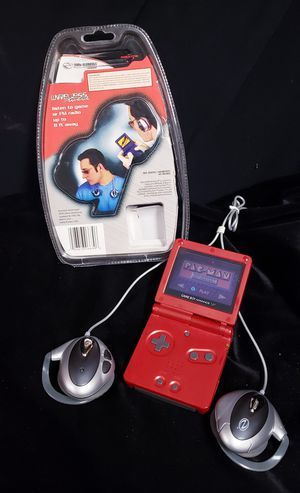 Flame Gameboy Advance SP w/Wireless Headphones for Sale in Buena Park, CA