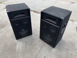 "Speakers, 350w, digital pro audio. 28""h, 16""w, 15""d for Sale in San Bruno, CA"