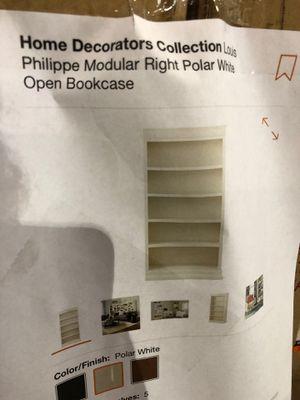 Philippe Modular Right Polar White Open Bookcase☺️ for Sale in Miami, FL