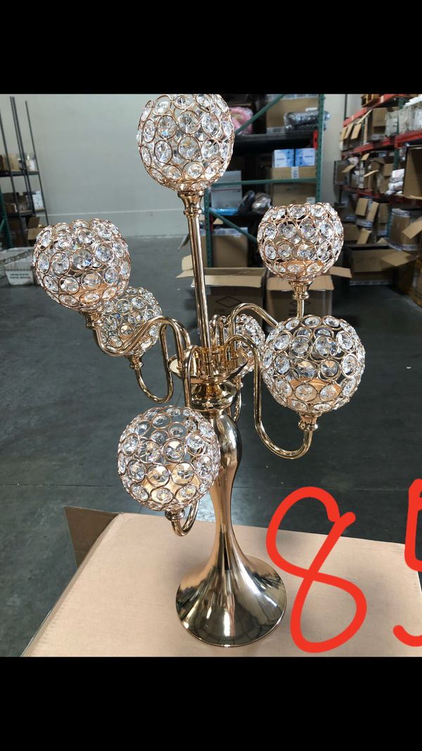 Crystal Candle holder for wedding and party