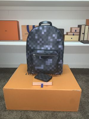 Louis Vuitton Men's Damier Graphite Pixel Backpack and matching Wallet for Sale in Hayward, CA