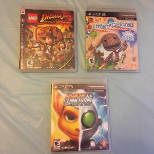 PlayStation 3 Games: LEGO Indiana Jones | Little Big Planet | Ratchet and Clank for Sale in Wichita, KS