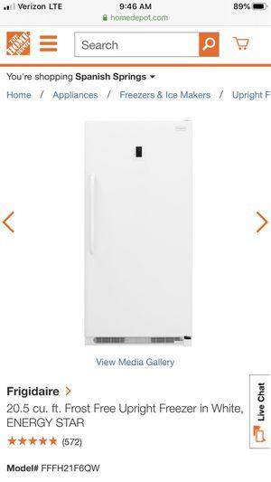 Frigidaire 20.5 cu Frost Free Upright Freezer, White for Sale in Galt, CA