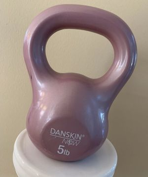 LIKE NEW Danskin weight 5 lb. Exercise Workout Kettle Bell ❗️IF POSTED THEN AVAILABLE ❗️kettlebell for Sale in Plainfield, IL