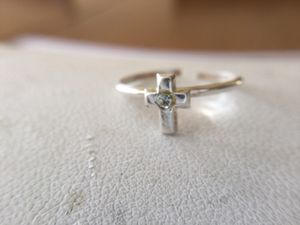 Solid silver cross toe ring for Sale in Cumberland, RI