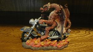 Red dragon statuette figurine riding motorcycle for Sale in Dallas, TX