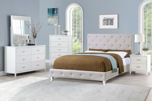 4pcs full size bedroom set $539 / 4pcs queen size bedroom set $549, 4pcs king bed room set $579 (1 bed frame +1 night Stand +1 Mirror +1 Dresser) for Sale in Los Angeles, CA