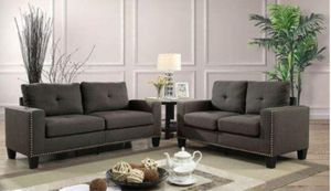 GREY 2PC SOFA SET FREE DELIVERY for Sale in US