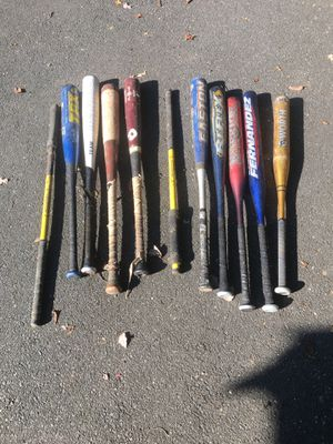Baseball Bats and batting Tee for Sale in Bethel, CT