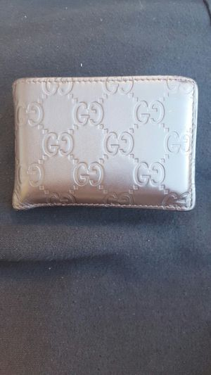 Men's Gucci brown GG small leather wallet for Sale in West Hollywood, CA