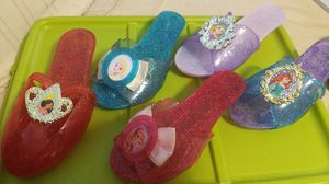 5 pair of girls DISNEY shoes for Sale in Greenville, SC