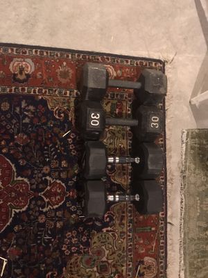 Two 30 pound and Two 20 pound dumbbells. for Sale in Algonquin, IL