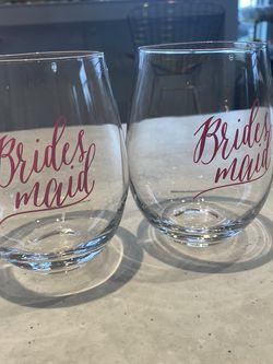 PRETTY BRIDESMAID GLASSES! $2.50 Each for Sale in Falls Church,  VA