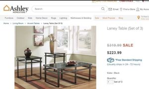 Black modern coffee table and end tables for Sale in Orlando, FL