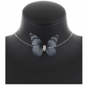 Beautiful Clear Necklace Black Butterfly for Sale in East Haven, CT