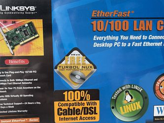 LINKSYS EtherFast 10/100 LAN Card for Sale in San Antonio,  TX