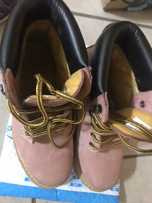 Safety Girl Steel Toe Boots Pink 9W for Sale in Pasadena, CA