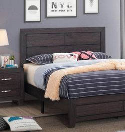 Hopkins Expresso Platform Bedroom Set 💕 4 pc Queen or King Size 💕💕💕 for Sale in Houston,  TX