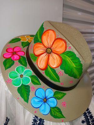 Sombrero Artesanal 🌺 Pintado A Mano for Sale in CTY OF CMMRCE, CA