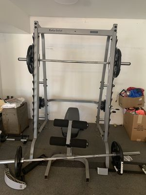 Body Solid Weight Set with Bar,Bench,and Weights for Sale in Brentwood, TN