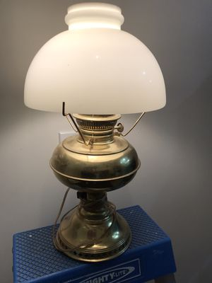 Antique brass oil lamp for Sale in Issaquah, WA