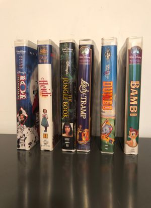 6 Walt Disney VHS Movies for Sale in Marietta, GA