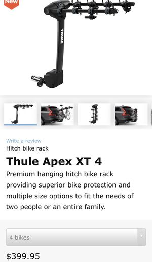 New 2019 Hitch THULE APEX XT 4 Bike rack. for Sale in Hialeah, FL