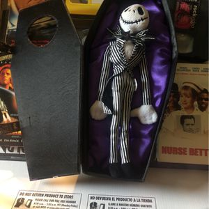 Disney Parks Jack Skellington Plush Doll Coffin Nightmare Before Limited edition for Sale in Phoenix, AZ