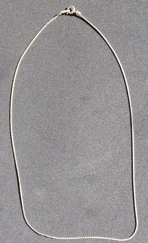 """White Gold Serpentine Link Chain, 18"""" for Sale in San Diego, CA"""