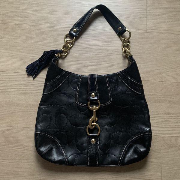 Limited Edition Black Coach Hobo Shoulder Bag