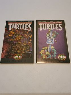Teenage Mutant Ninja Turtles Issue #50 McFarlane Pin Up, And #51 1st App Gabrielle, First Prints 1992 Mirage Studios High Grade Rare Low Print Run Lot for Sale in Fresno,  CA