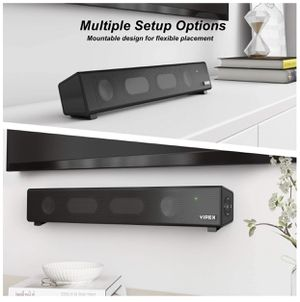 Altavoces de ordenador, VIPEX Bluetooth PC Altavoces Barra de Sonido, 10W Estéreo Potente Mini Soundbar Altavoz para TV, Escritorio, Laptop, Smartpho for Sale in North Bergen, NJ