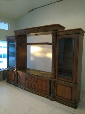 ENTERTAINMENT CENTER with lighted shelving for Sale in Cape Coral, FL