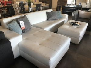 White Milan 2PC Sectional 💥 for Sale in Miami Springs, FL