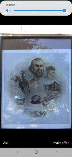 Civil war art print by ben hampton signed and numbered for Sale in El Cajon, CA