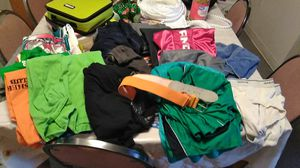 Mens, sm cloths shorts, t shirts, 3 underw for Sale in Port Richey, FL