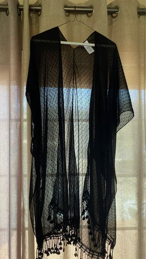 Sheer black womens shawl/cover up for Sale in Sun City, AZ