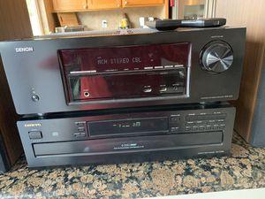 Denon AVT 1613 Receiver, Onkyo CD DX-C340 stereo Dahlqiest speakers for Sale in San Diego, CA